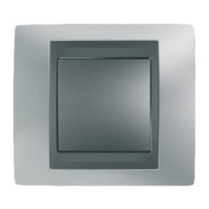 Рамка Х1, Хром Матовый/Графит Schneider Electric MGU66-002-238
