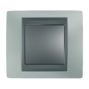 Рамка Х1, Флюорит/Графит Schneider Electric MGU66-002-294
