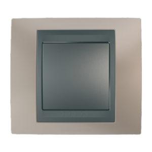 Рамка Х1, Опал/Графит Schneider Electric MGU66-002-295