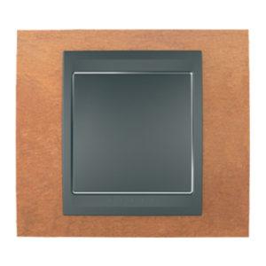 Рамка Х1, Вишня/Графит Schneider Electric MGU66-002-2M2