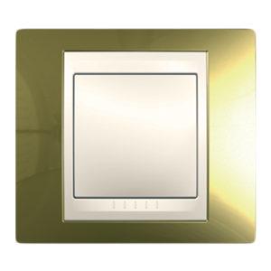 Рамка 1 Пост Золото Бежевая Вставка Schneider Electric MGU66-002-504