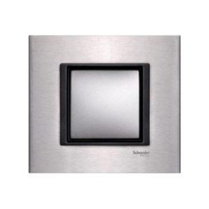 Рамка 1 Пост Серебристый Алюминий Schneider Electric MGU68-002-7A1