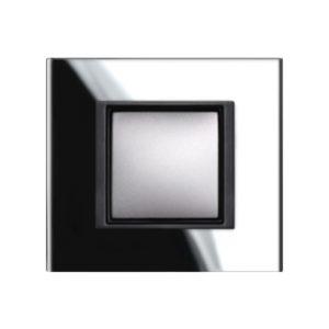 Рамка 1 Пост Черное Стекло Schneider Electric MGU68-002-7C1