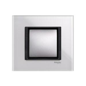 Рамка 1 Пост Белое Стекло Schneider Electric MGU68-002-7C2