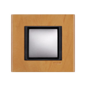 Рамка 1 Пост Cветлая Кожа Schneider Electric MGU68-002-7P1