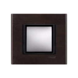 Рамка 1 Пост Темная Кожа Schneider Electric MGU68-002-7P2