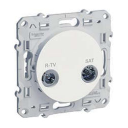 R-Tv/Sat Оконечн. Белый Odace Schneider Electric S52R455