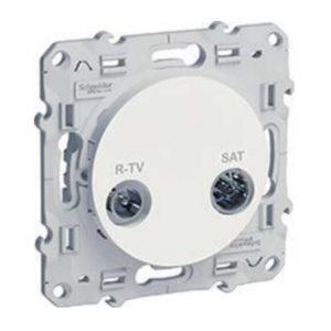 R-Tv/Sat Проход. Белый Odace Schneider Electric S52R456