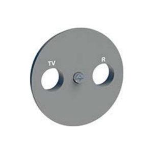 Накладка R-Tv/Sat Алюминий Odace Schneider Electric S53R441