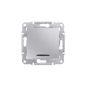 Переключатель 2 Напр С Синей Подсв.16А, Алюминий. Schneider Electric SDN1500260