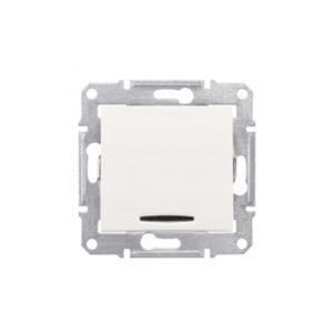 Кнопочный Выключатель с Подсв., Бежевый. Schneider ElectricSDN1600147