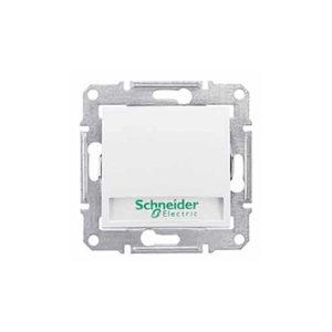 Кнопочный Выключатель с надп. Подсв., Белый. Schneider Electric SDN1600321