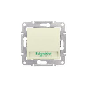 Кнопочный Выключатель с надп. Подсв., Бежевый. Schneider Electric SDN1600347