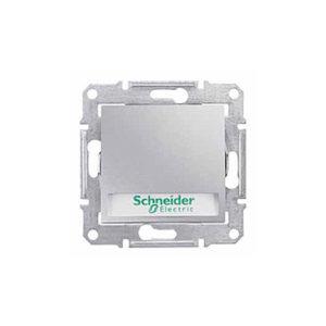 Кнопочный Выключатель с надп. Подсв., Алюминий. Schneider Electric SDN1600360