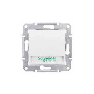 Кнопочный Выключатель с надп. Подсв., Белый. Schneider Electric SDN1700421