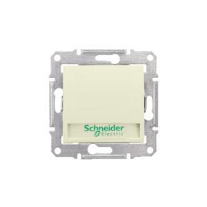 Кнопочный Выключатель с надп. Подсв., Бежевый. Schneider Electric SDN1700447