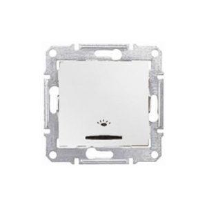 Кнопочный Выключатель «Свет» Подсв., Белый. Schneider Electric SDN1800121