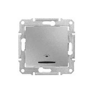 Кнопочный Выключатель «Свет» Подсв., Алюминий. Schneider Electric SDN1800160
