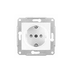 Розетка С/З Б/Ш, Белый. Schneider Electric SDN3000521