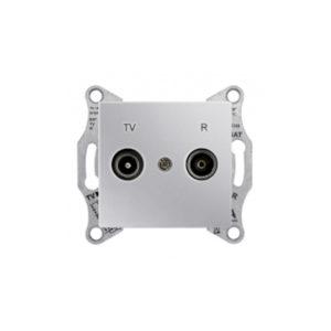 Tv/R Розетка Проходная, Алюминий. Schneider Electric SDN3301360