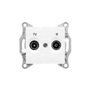 Tv/R Розетка Проходная, Белый. Schneider Electric SDN3301821