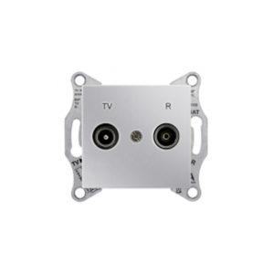 Tv/R Розетка Проходная., Алюминий. Schneider Electric SDN3301860