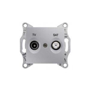 Tv/Sat Розетка Проходная, Алюминий. Schneider Electric SDN3401260