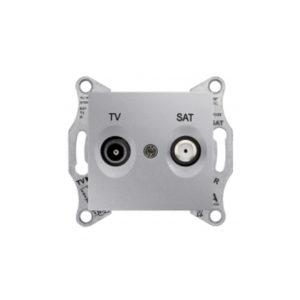 Tv/Sat Розетка Проходная, Алюминий. Schneider Electric SDN3401960