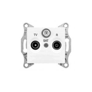 Tv/R/Sat Розетка Оконечная, Белый. Schneider Electric SDN3501321