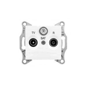 Tv/R/Sat Розетка Проходная, Белый. Schneider Electric SDN3501421