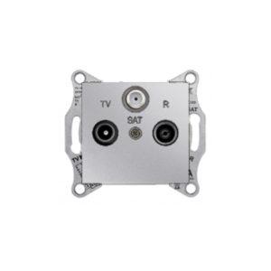 Tv/R/Sat Розетка Проходная, Алюминий. Schneider Electric SDN3501460