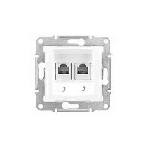 Телефонная Розетка Х2, Белый Schneider Electric SDN4201121