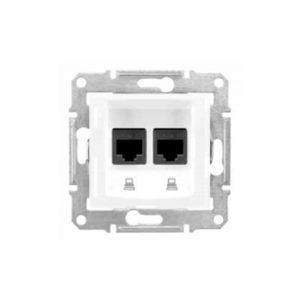 Компьютерная Розетка Двойная Кат. 6 Экр. Stp, Белый Schneider Electric SDN5000121