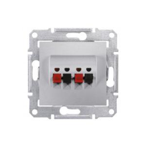 Аудио Розетка Х2, Алюминий Schneider Electric SDN5400160