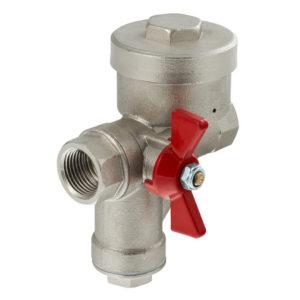 Кран шаровой со встроенным фильтром и редуктором давления (КФРД), левый