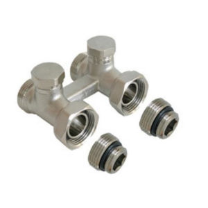 Узел для нижнего подключения радиатора к двухтрубной системе (комплект)