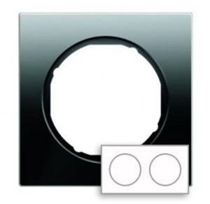 Рамка, стекло, цвет: черный Berker R.3