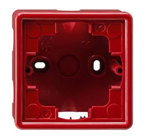 Рамка, красная для открытого монтажа 1 Gira S-color