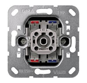 Вставка контрольного клавишного выключателя с лампой тлеющего разряда 230 В 2-полюсный выключатель Gira