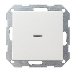 Выключатель с клавишей 2-полюсный белый глянец Gira
