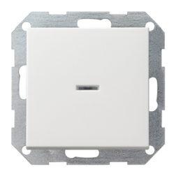 Выключатель с клавишей 2-полюсный белый матовый Gira