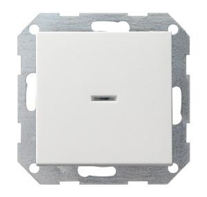 Выключатель с клавишей с подсветкой белый глянец Gira