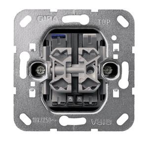 Вставка контрольного клавишного выключателя с двумя светодиодами 230 В Двухклавишный выключатель Gira