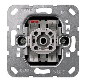 Вставка кнопочного выключателя 1-полюсный выключатель с замыкающим контактом, с дополнительными сигнальными контактами Gira