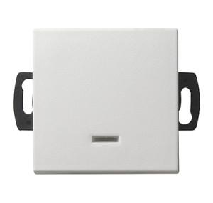 Кнопочный выключатель для малого напряжения до 42 В с подсветкой белый глянец Gira