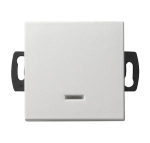 Кнопочный выключатель для малого напряжения до 42 В с подсветкой белый матовый Gira