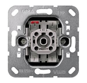 Вставка кнопочного выключателя 1-полюсный выключатель с переключающим контактом Gira