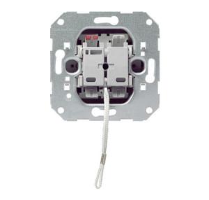 Вставка шнурового кнопочного выключателя 1-полюсный выключатель с замыкающим контактом, с дополнительным сигнальным контактом Gira