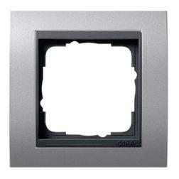 Рамка, алюминий с черной вставкой Gira Event