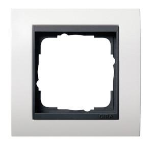 Рамка, белая матовая с черной вставкой Gira Event